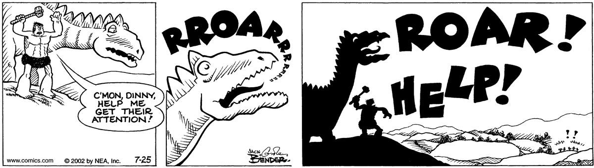 """""""C'mon Dinny help me get their attention!"""" RROARRR """"Roar!"""" """"Help!"""""""