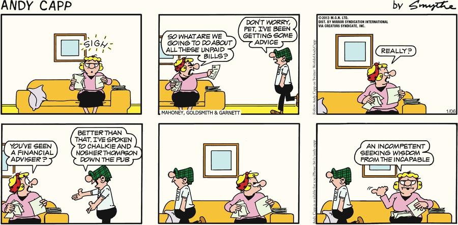 Andy Capp for Jan 6, 2013 Comic Strip