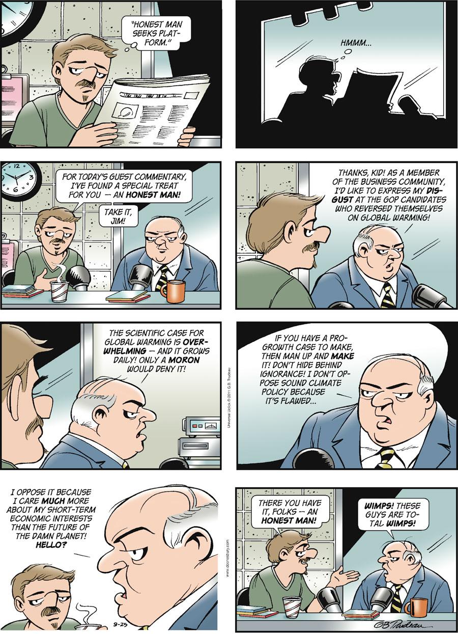 Doonesbury Comic Strip for September 25, 2011