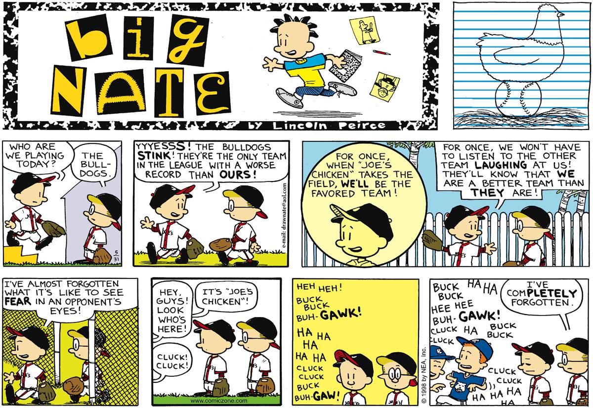 Big Nate Comic Strip for May 31, 1998