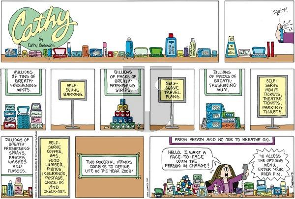 Cathy on Sunday February 10, 2008 Comic Strip