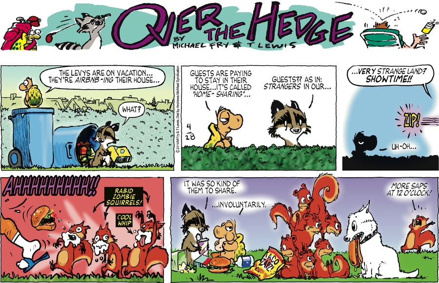 Over the Hedge Comic Strip for April 28, 2019