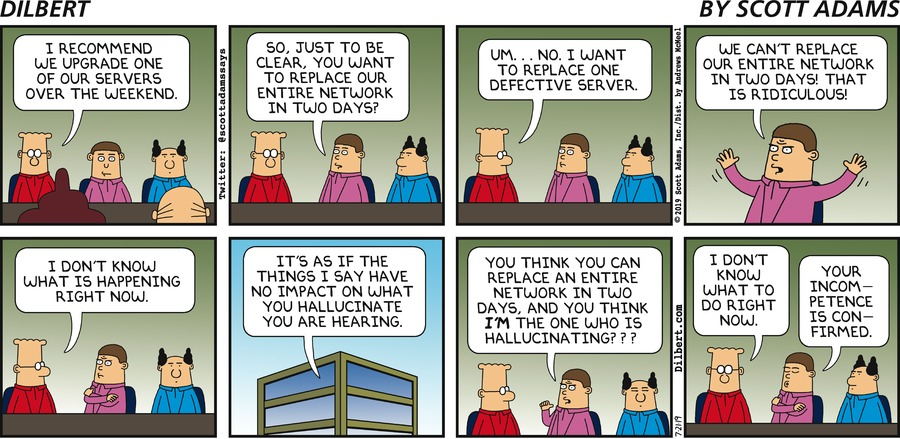 Hallucinations At Meetings - Dilbert by Scott Adams