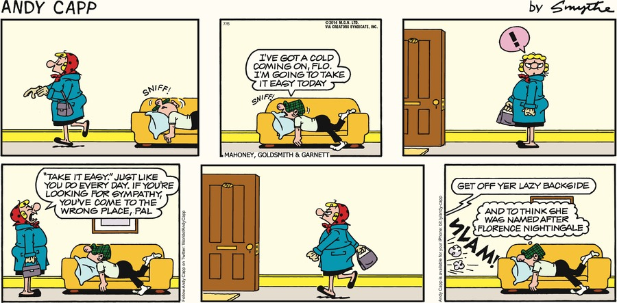 Andy Capp Comic Strip for July 06, 2014