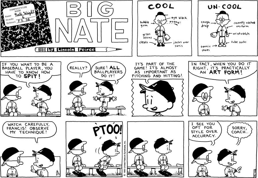 Big Nate Comic Strip for June 27, 1993