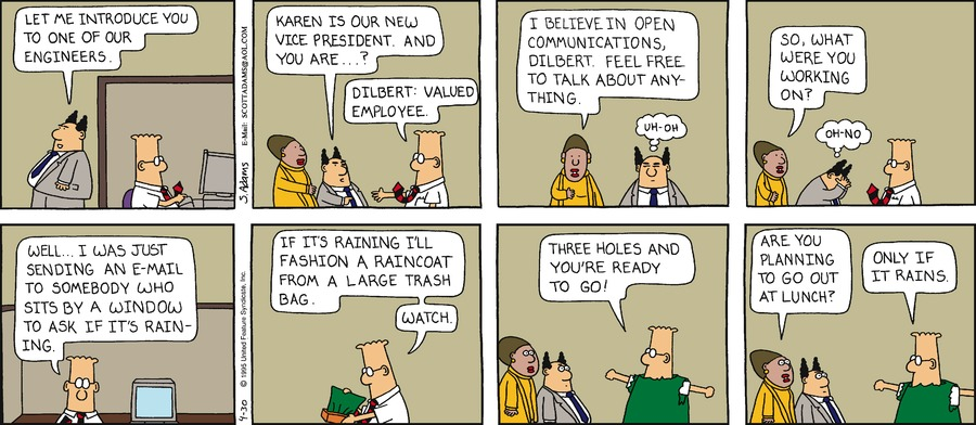 Dilbert Classics Comic Strip for March 31, 2019