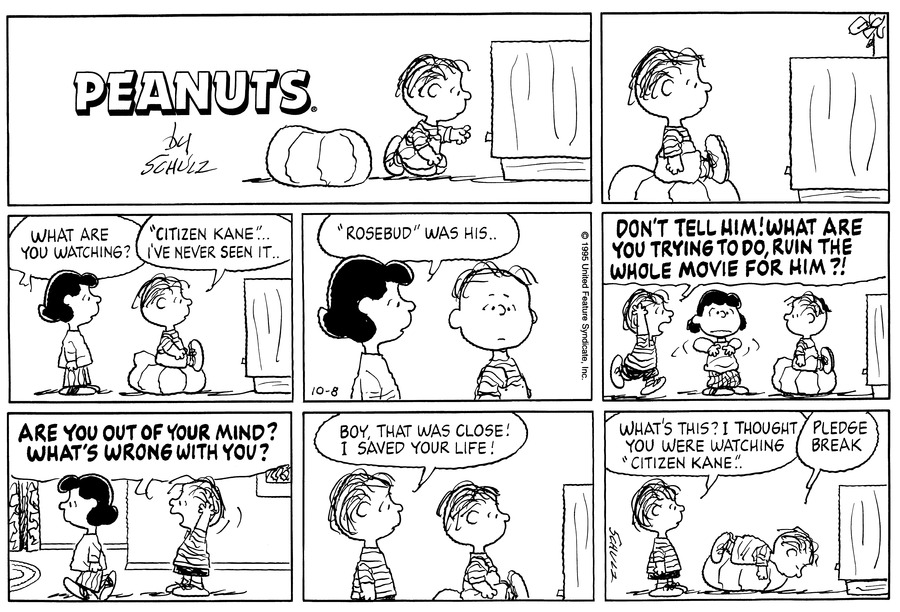 Peanuts for Oct 8, 1995 Comic Strip