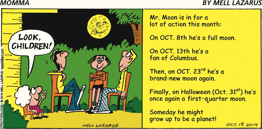 Momma Comic Strip for October 19, 2014