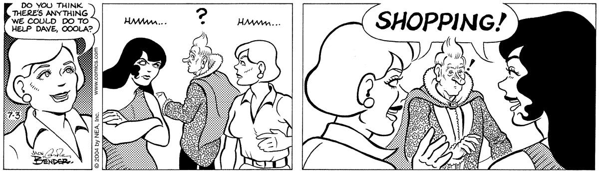 Alley Oop for Jul 3, 2004 Comic Strip