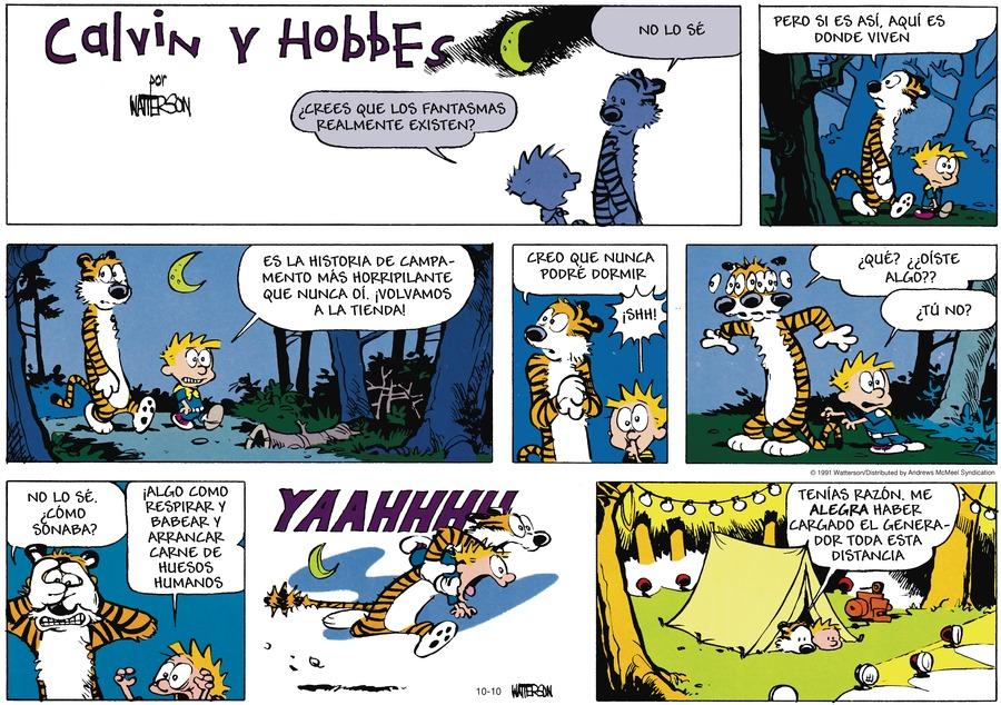Calvin and Hobbes en Español by Bill Watterson on Sun, 10 Oct 2021