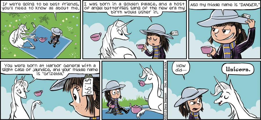 Phoebe and Her Unicorn for Apr 29, 2012 Comic Strip