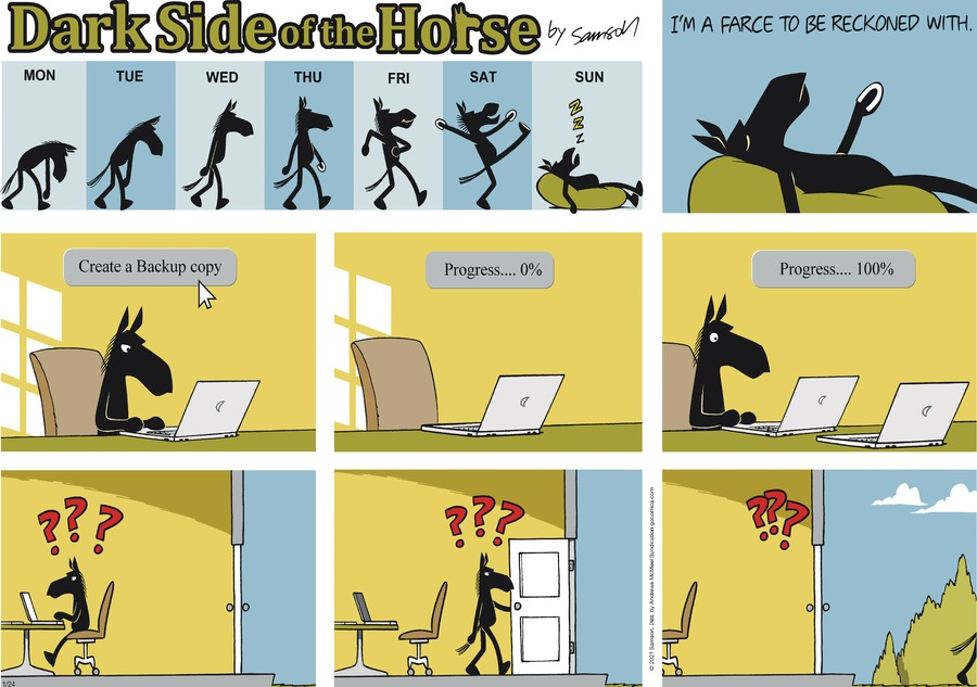Dark Side of the Horse Comic Strip for January 24, 2021