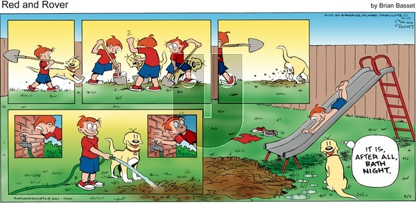 Red and Rover on Sunday August 4, 2019 Comic Strip