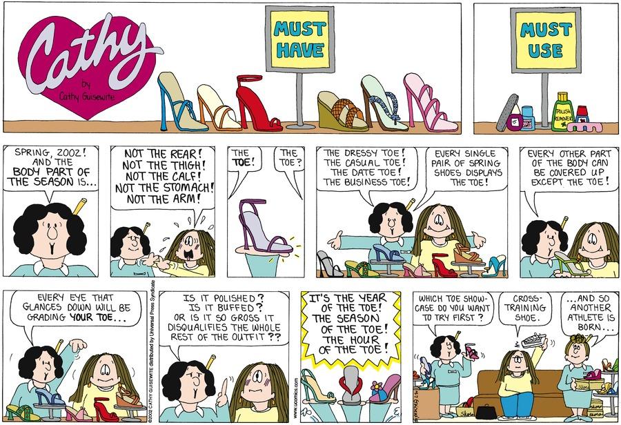 Cathy for Apr 7, 2002 Comic Strip