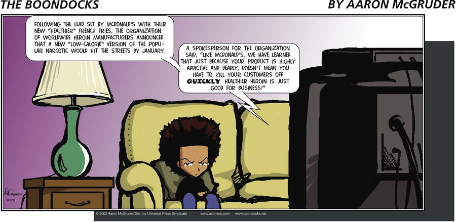 The Boondocks for Oct 20, 2002 Comic Strip