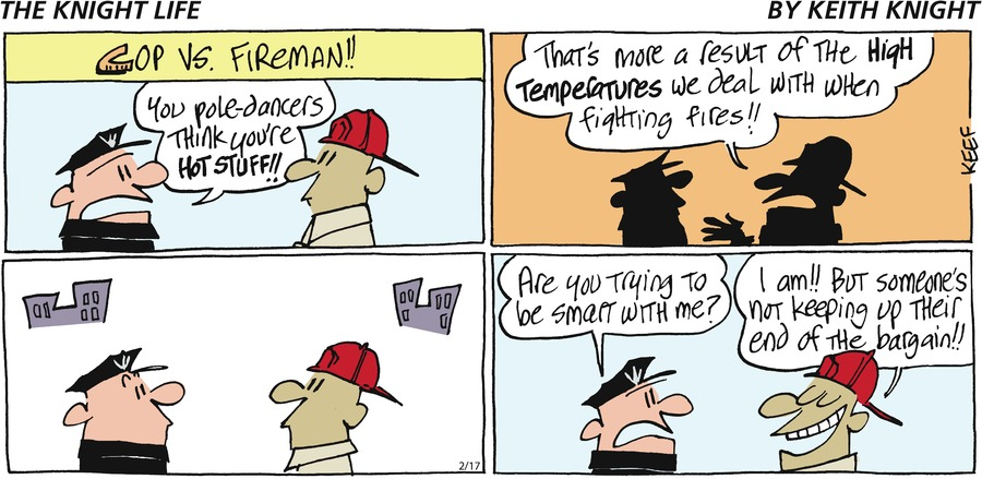 The Knight Life Comic Strip for February 17, 2019