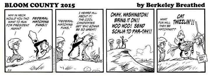 Bloom County 2019 Comic Strip for September 25, 2015