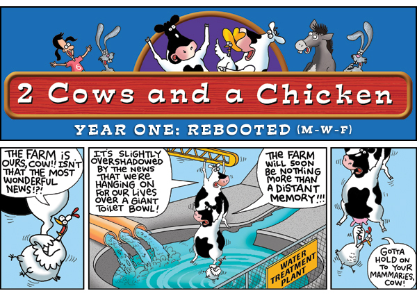 2 Cows and a Chicken for Mar 4, 2013 Comic Strip