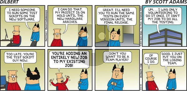 Dilbert on Sunday October 21, 2018 Comic Strip
