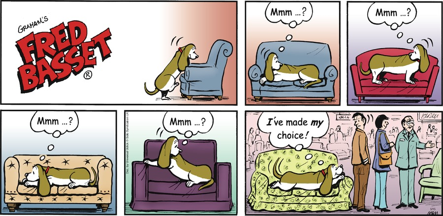 Fred Basset Comic Strip for May 15, 2016