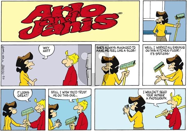 Arlo and Janis on Sunday February 21, 1999 Comic Strip