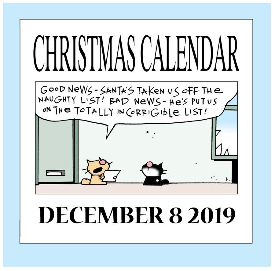 Ten Cats Comic Strip for December 08, 2019