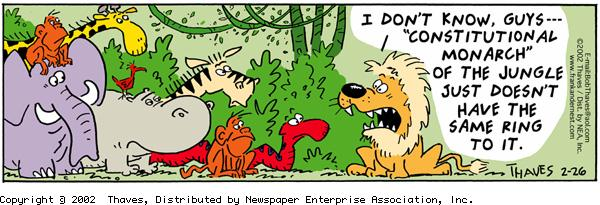 Frank and Ernest Comic Strip for February 26, 2002