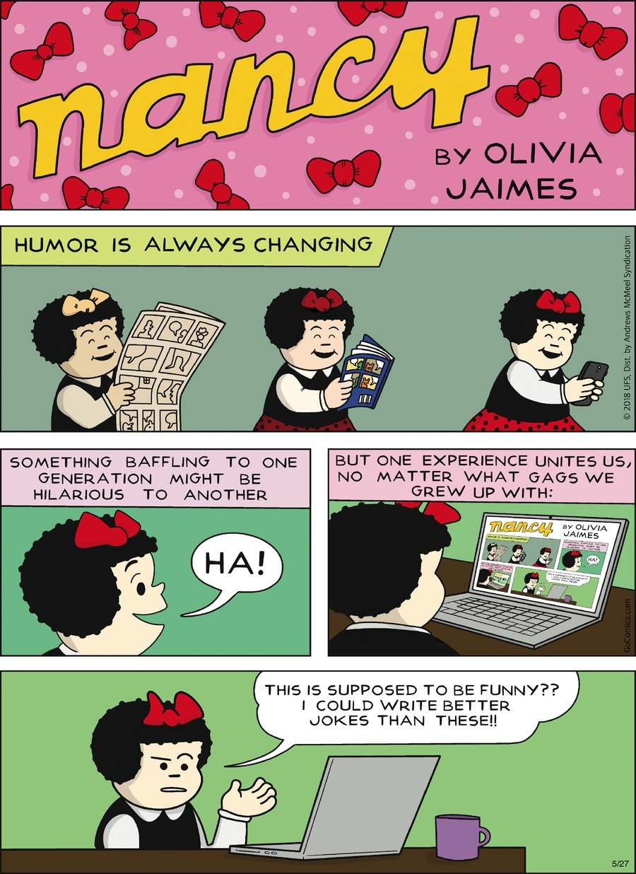 Nancy by Olivia Jaimes for May 27, 2018