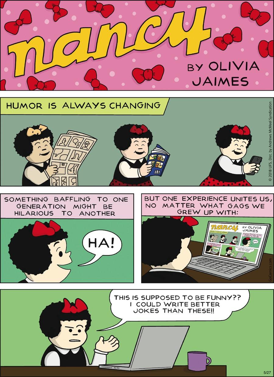 Nancy Comic Strip for May 27, 2018