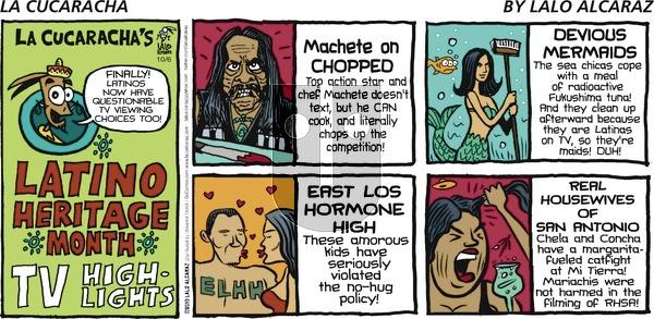 La Cucaracha on Sunday October 6, 2013 Comic Strip