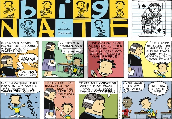 Big Nate on Sunday December 7, 2014 Comic Strip