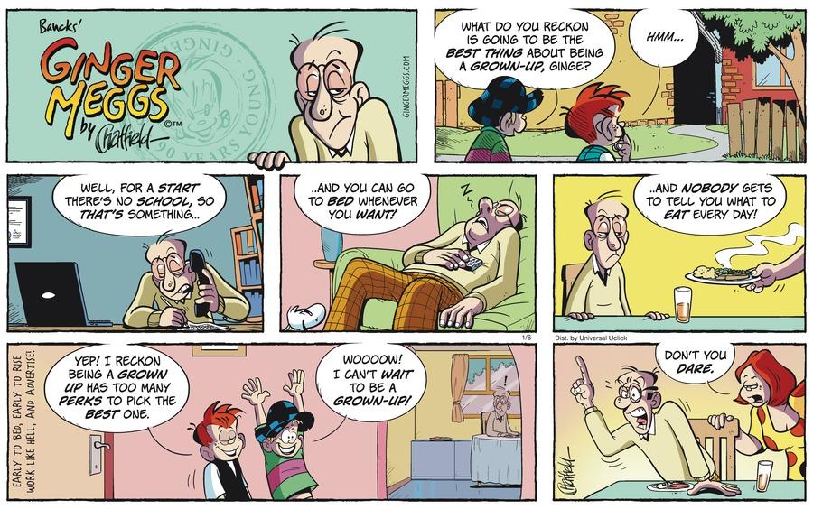 Ginger Meggs for Jan 6, 2013 Comic Strip
