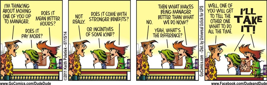 Dude and Dude for Jul 15, 2014 Comic Strip