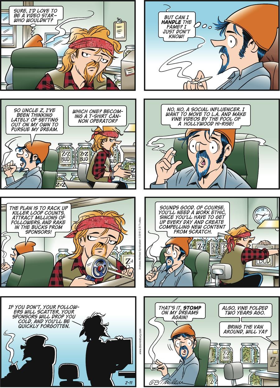 Doonesbury for Feb 11, 2018 Comic Strip