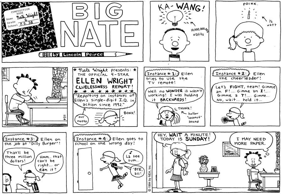 Big Nate: First Class Comic Strip for November 17, 2019