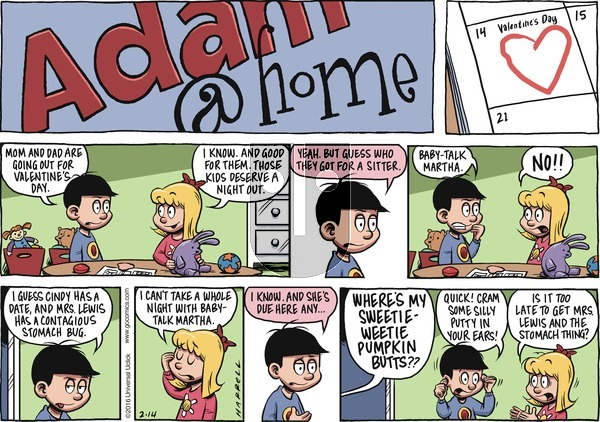 Adam@Home on Sunday February 14, 2016 Comic Strip