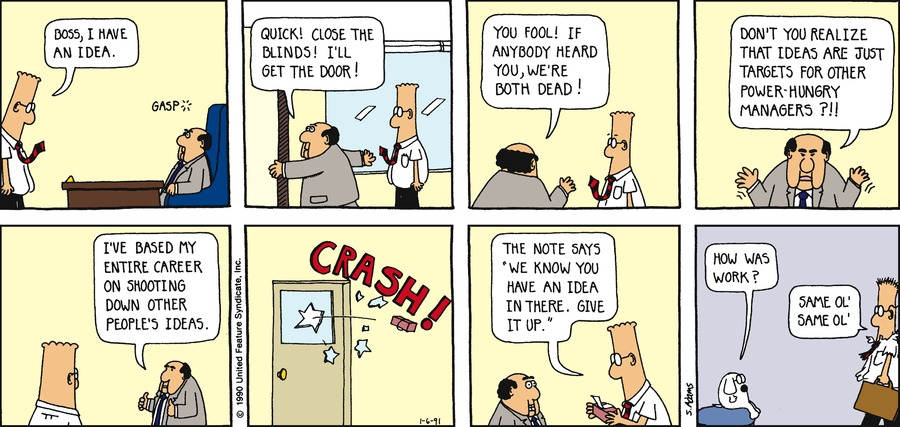 Dilbert Classics Comic Strip for March 09, 2014
