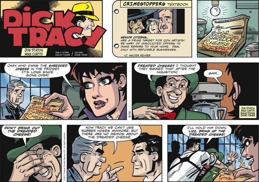 Dick Tracy Comic Strip for September 10, 2017
