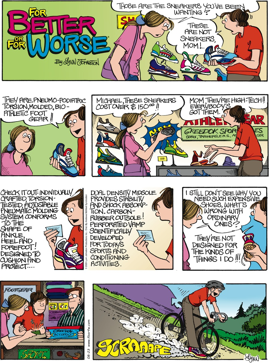 For Better or For Worse Comic Strip for August 23, 2020