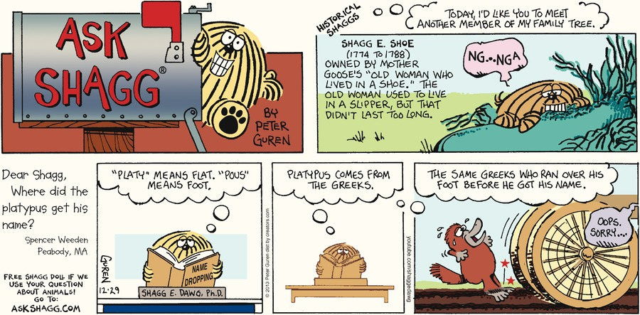Ask Shagg for Dec 29, 2013 Comic Strip