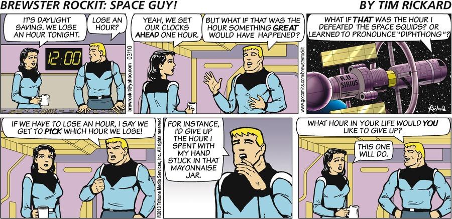Brewster Rockit for Mar 10, 2013 Comic Strip