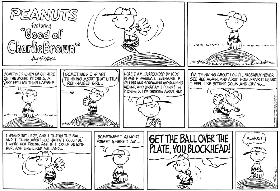 Peanuts Comic Strip for August 02, 1970