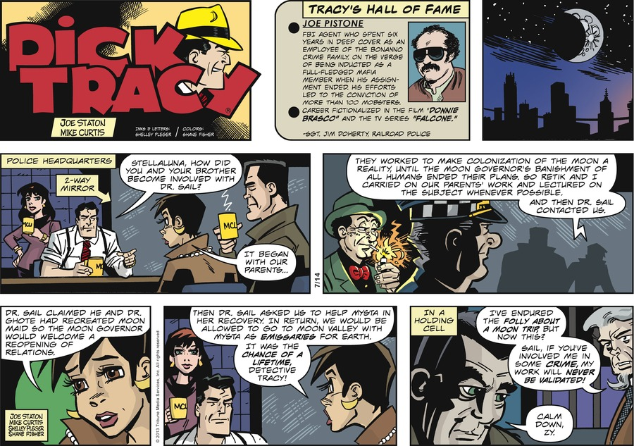 Dick Tracy Comic Strip for July 14, 2013