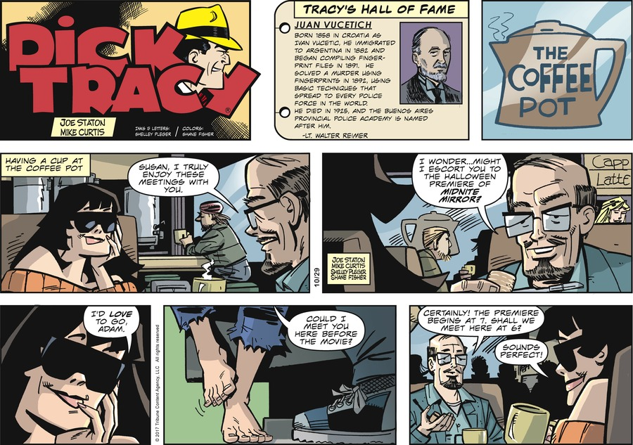 Dick Tracy Comic Strip for October 29, 2017