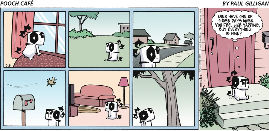Pooch Cafe for Oct 21, 2012 Comic Strip