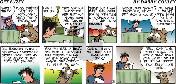 Get Fuzzy on Sunday March 11, 2012 Comic Strip