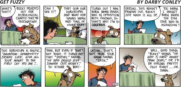 Get Fuzzy - Sunday March 11, 2012 Comic Strip