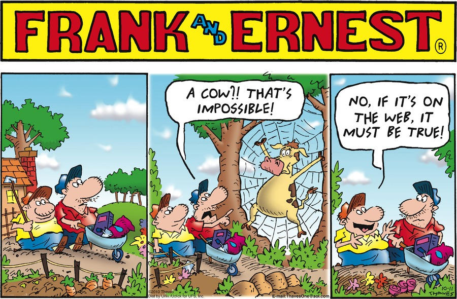 Frank and Ernest for Oct 11, 2015 Comic Strip