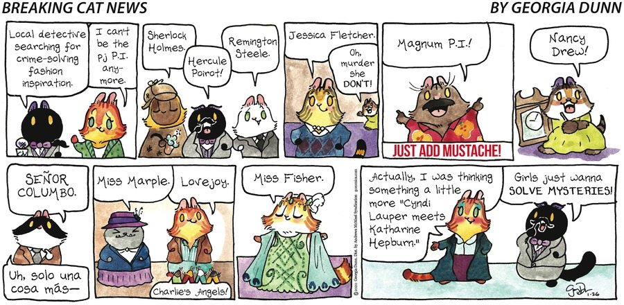 Breaking Cat News Comic Strip for January 26, 2020