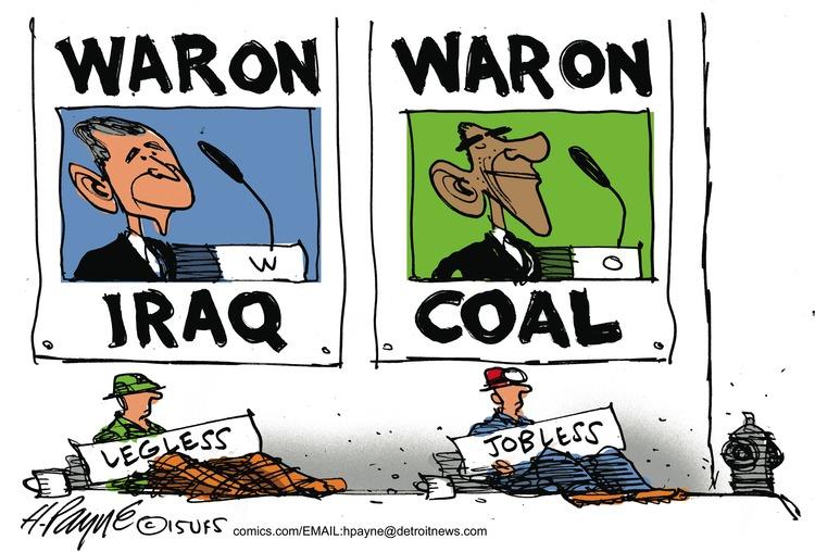 War on Iraq War on coal Legless Jobless